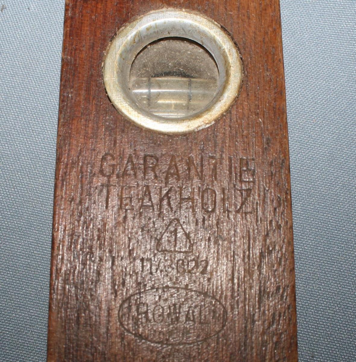WASSERWAAGE HOWAL Bad Liebenstein DDR Teakholz 40cm WerkzeugSammler
