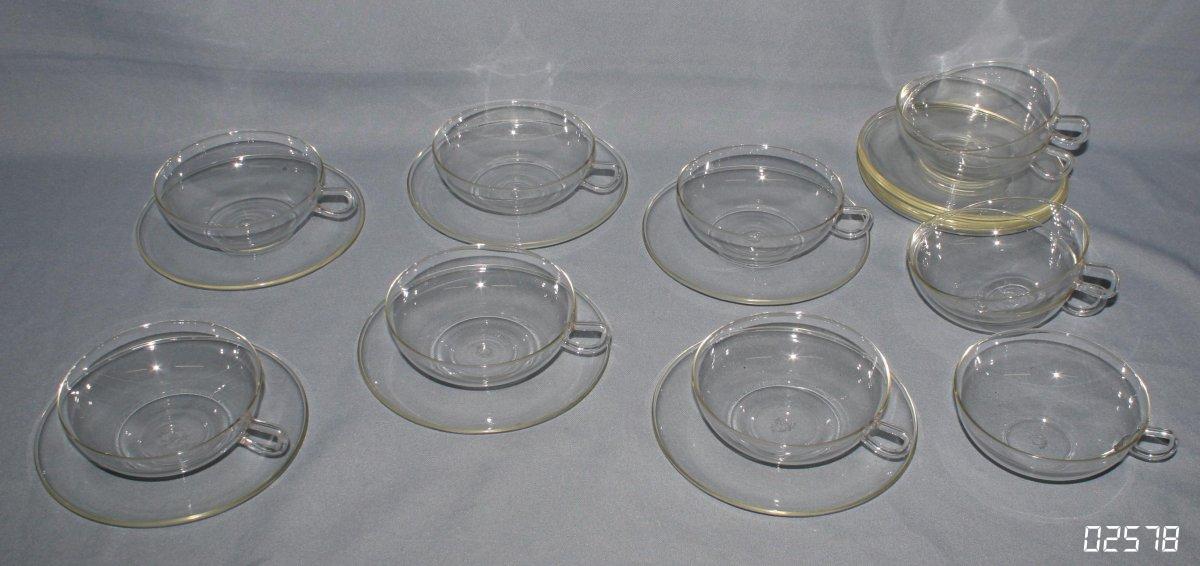 altes ddr tee service 11 teetassen 12 glasteller jenaer. Black Bedroom Furniture Sets. Home Design Ideas