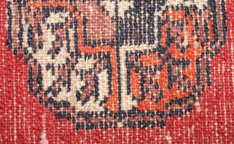 Antiker Gebetsteppich TEPPICH  Vorleger 32×37 cm