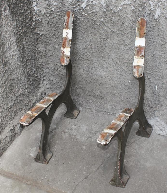 metallgestell für gartenbank