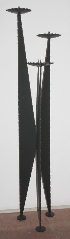 ddr industrie design kerzenst nder boden standleuchter 3 flg eisen schwarz 112cm. Black Bedroom Furniture Sets. Home Design Ideas