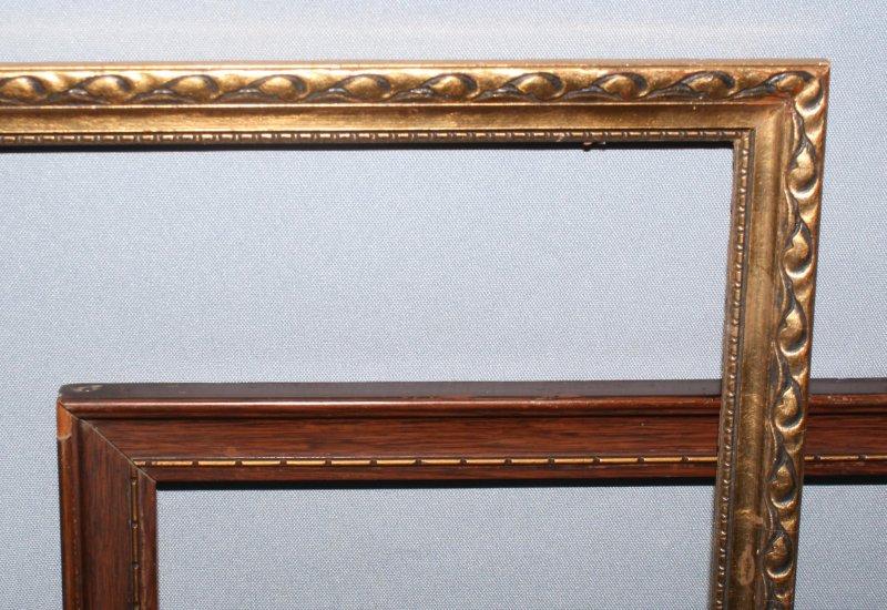 Bilderrahmen Holz Gebraucht ~ Details zu 2 antike BILDERRAHMEN Holz Rahmen Jugendstil 1900 1910 ohne