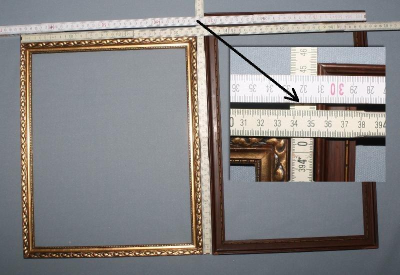 2 antike bilderrahmen holz rahmen jugendstil 1900 1910. Black Bedroom Furniture Sets. Home Design Ideas