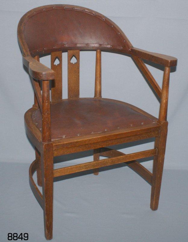 Schreibtischstuhl antik  Alter SCHREIBTISCHSTUHL Antik-Bürostuhl Lehnstuhl um 1920 ART DECO ...