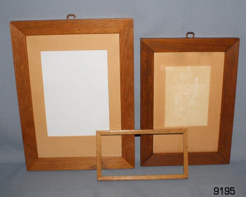 Bilderrahmen Holz Gebraucht ~ Details zu 3 ECHTHOLZ BILDERRAHMEN Eiche Holz Rahmen 2x mit Glas für